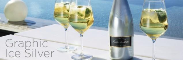 La nouvelle cuvée Nicolas Feuillatte 'Graphic ice silver' surfe sur la mode de la consommation du Champagne 'on ice'