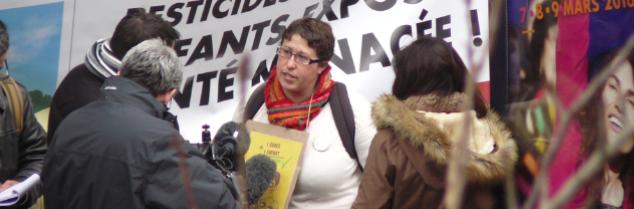 Pour Marie-Lys Bibeyran, «il est hors de question d'exposer les enfants, riverains et salariés viticole. Il n'y a pas de hiérarchisation dans les victimes! »