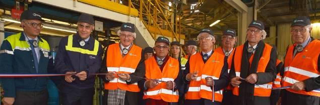 550 000 bouteilles sont produites chaque jour sur le nouveau site de Oiry de Verallia.