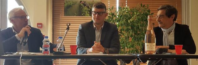 «Même si l'on n'atteint 90 millions de cols, cela permettra aux marchés d'avoir des volumes réguliers » estime Franck Vichet (au centre), ce 26 avril à Bordeaux.
