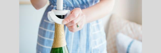 Zzysh s'adapte à la plupart des formes de bouteilles