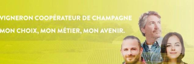 Par ce slogan, la coopération champenoise cherche à valoriser le statut de coopérateur.