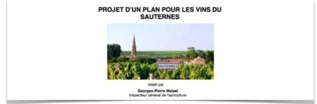 Commandité en juin 2015 par le Conseil Général de l'Agriculture et des Espaces Ruraux (CGAER), ce rapport repose sur une quarantaine d'entretiens et trois réunions avec les représentants de la filière bordelaise.