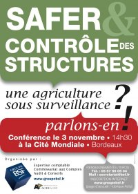 Conférence : SAFER, Contrôle des Structures : une agriculture sous surveillance ?