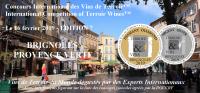 2020 BRIGNOLES PROVENCE VERTE - Concours international des Vins de Terroir International Competition of Terroir Wines - EDITION  8