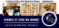 MONACO 2020 - Femmes et Vins du Monde - Women and Wines of the World - EDITION 14