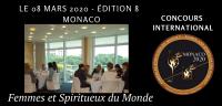 MONACO 2020 - Femmes et Spiritueux du Monde - Women and Spirits of the World  EDITION 9