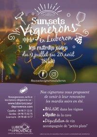 Sunsets vignerons en Luberon Coeur de Provence