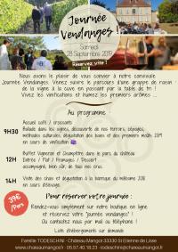 Journée Vendanges au Château Mangot !