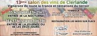 13 ème salon des vins & des tentations du terroir de Clerlande
