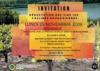 Dégustation professionnelle des vins IGP Collines rhodaniennes à Grenoble