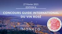 MONACO 2021  - Concours Guide International du Vin Rosé - International Guide of Rosé Wine - EDITION 8 - PRIMA