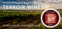2021 BRIGNOLES PROVENCE VERTE - Concours international des Vins de Terroir International Competition of Terroir Wines - EDITION  9