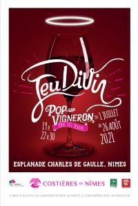 JeuDiVin 2021 : le bar à vins éphémère de l'AOC Costières de Nîmes revient cet été