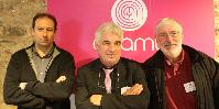 Les trois présidents des trois caves coopératives rassemblées (de gauche à droite) : Florent Chirat (Coteaux du Lyonnais), Bernard Couzon (signé Vignerons) et André Patard (Vignerons Foréziens)
