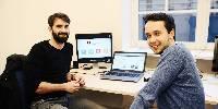 De gauche à droite : Cyril Bataille, le fondateur de ViniTIC et Nathan Leroux en charge du développement commercial.