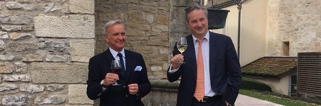François Labet, nouveau président du BIVB et Louis-Fabrice Latour, président-délégué, qui passe le flambeau, tous deux élus pour 4 ans avec une alternance au bout de 2 ans