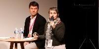 Gilles Masson, directeur du Centre du Rosé, et Nathalie Ollat, ingénieure de recherche à l'INRA de Bordeaux, présentent les défis du changement climatique sur la production de vins rosés