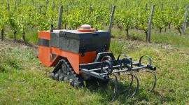 The prototype of the Céol inter-row and hybrid robot built by the start-up Agreenculture has taken its first steps in the vineyard.