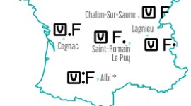 Carte des implantations des usines Verallia dans le sud de la France