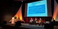 Gérard Mermet, au pupitre, était l'invité d'honneur du colloque Vinosphère organisé jeudi 14 février 2019