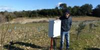 Jean-Claude Mailhol sur la parcelle expérimentale irriguée avec les eaux usées de Murviel-lès-Montpellier.