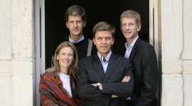 The four Drouhin siblings, Véronique, Philippe, Frédéric and Laurent, took over management of the family firm in the 1990s, but remain under the supervision of their father Robert.