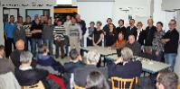 L'AGE de la cave coopérative de Chautagne : assis, Jean Francois Vissoud, nouveau vice-président (en orange), et à sa gauche, Gilles Clerc, nouveau président