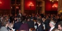 Au micro, Frédéric Drouhin s'exprimant lors d'une soirée 'Grandes maisons & grands crus' auprès de journalistes internationaux