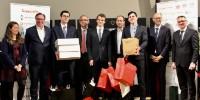 Les vainqueurs de la 11ème édition du 'Spit', l'école de Montpellier Sup Agro, entourés des membres du Jury