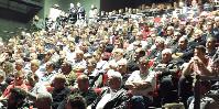 S'attendant à une centaine de participants, le syndicat a été surpris d'accueillir 350 vignerons ce 18 mai dans l'auditorium de Ferrals-les-Corbières.