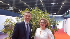 Rodolphe Lameyse, managing director of Vinexpo, and Pascale Ferranti, director of Wine Paris.