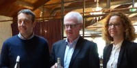 De gauche à droite, Gabriel Ruestch, Michel Servage et Alexandra Ladeuil font connaitre l'ambition de Foncalieu pour les rosés.