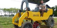 L'enjambeur électrique Beagle de Saudel manoeuvre en douceur et sans bruit