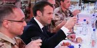 Cible de l'ANPAA, la promotion de la consommation modérée par le président Emmanuel Macron.