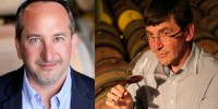 On the left, Fabrice Rieu, chairman of Vinisud, and on the right, Pierre Clément, chairman of the Association of Northern Wine Regions (AVS).