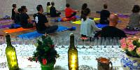 : Initialement rétif au yoga, Thibaud Cristini s'y est converti sous l'impulsion de sa compagne, Ludivine.