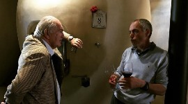 The 2019 vintage is the last one supervised by Jean-Michel Comme (right), who has managed Alfred Tesseron's (left) estate since 1989.