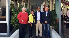 Professor Vink, on the left, with other South African agricultural economists