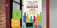 Avec de l'affichage et des arguments séduisants, les vins de bordeaux cherchent des cavistes pour être partenaire d'une opération de promotion d'un mois.