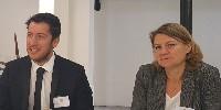 Maxime Blin (à gauche) et Corinne Genin (à droite).