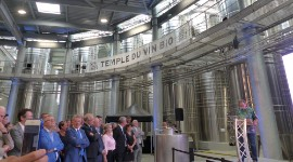 The official opening of the organic wine 'temple' attracted a large audience.