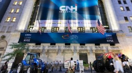 Présentation par CNH Industrial de sa stratégie 'Transform to win' lors du New York Investor Day, à New York, le 3 septembre 2019