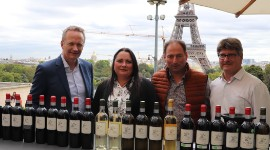 Eric Hénaux, managing director, Céline Martineau, vice-chair, and Stéphane Héraud, chairman of the Vignerons de Tutiac winery
