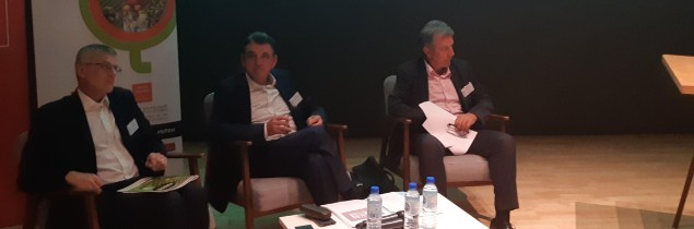 From left to right: Alain Savary, CEO of Axema, Jean-Pierre Van Ruyskensvelde, CEO of IFV, and Jean-Louis Cazaubon, vice-chairman of the Occitania regional council.