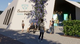 The Paris event will provide visitors with a venue for learning more about Champagne, including a dance show and the obligatory tasting.