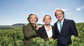 Vitalie Taittinger with her father, Pierre-Emmanuel, and brother Clovis.
