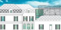 L'aménagement prévu propose des panneaux de résille en acier galvanisé et thermolaqué, reposant sur une structure en acier.