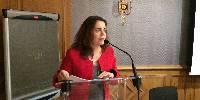 Christine Avelin, directrice du cabinet de Stéphane Le Foll au congrès de la Cnaoc le 15 novembre