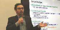 Sébastien Cornuaud, directeur France de Weedingtech lors de sa conférence à Vinitech le 21 novembre